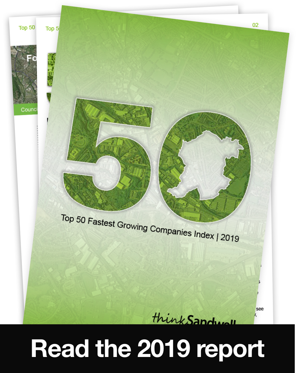 Top 50 Fastest Growing Companies Index | Think Sandwell