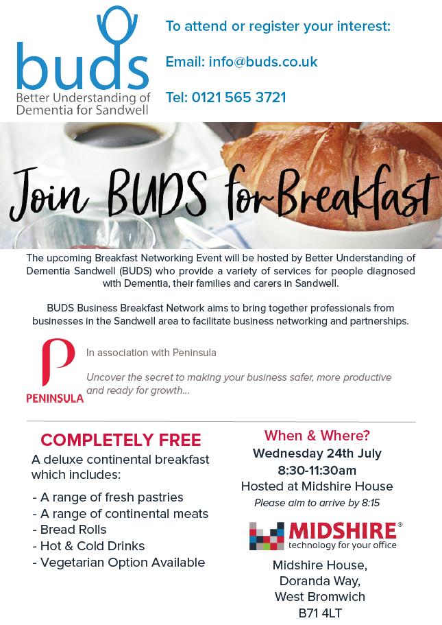 BUDS Business Breakfast July 19