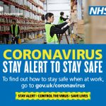 NHS Coronavirus stay alert to stay safe poster