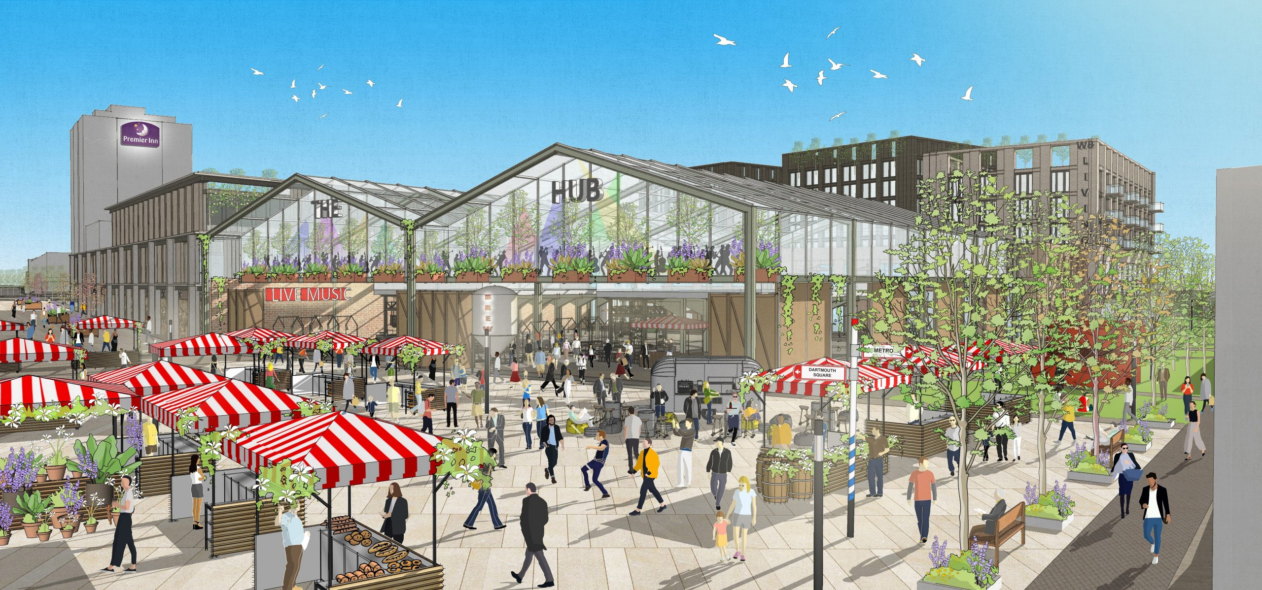 An artist impression of a future regenerated West Bromwich