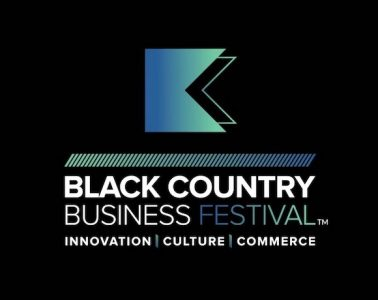 Black Country Business Festival logo with the slogan 'innovation, culture, commerce'