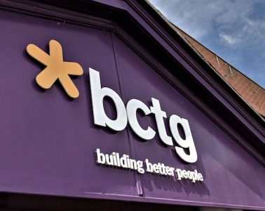 A building with 'BCTG building better people' on it