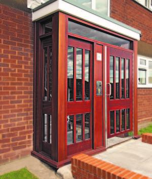 Door screen and porch timber