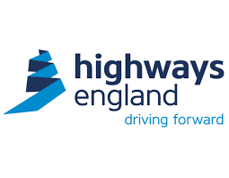 Highways England logo with the slogan 'driving forward'