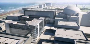 Artist's impression of Hinkley Point C Nuclear Power Plant, which is currently under construction