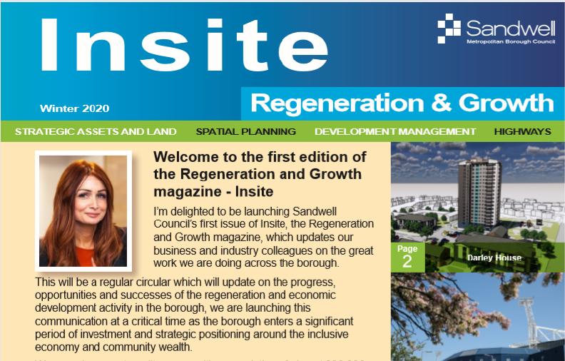 Screenshot of Insite magazine