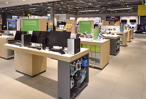 John Lewis electronics department fitted by Aspen