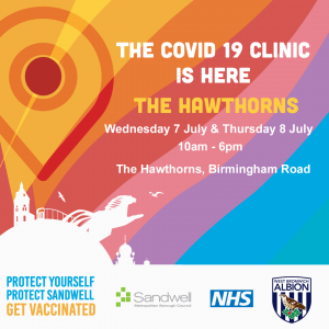 Covid 19 Clinic at The Hawthorns poster