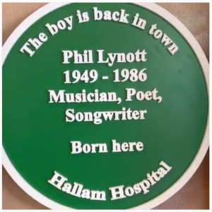 Phil Lynott plaque