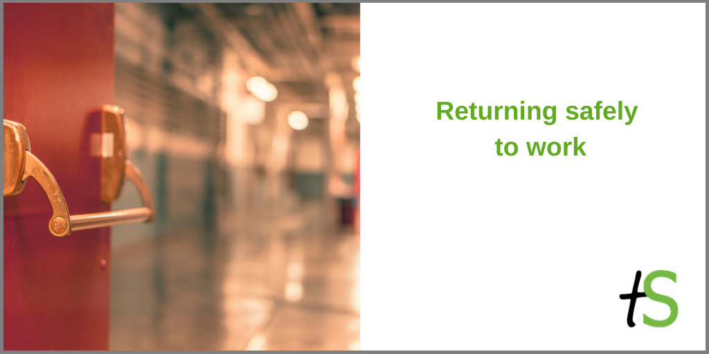 Returning safely to work_open door_warehouse or factory