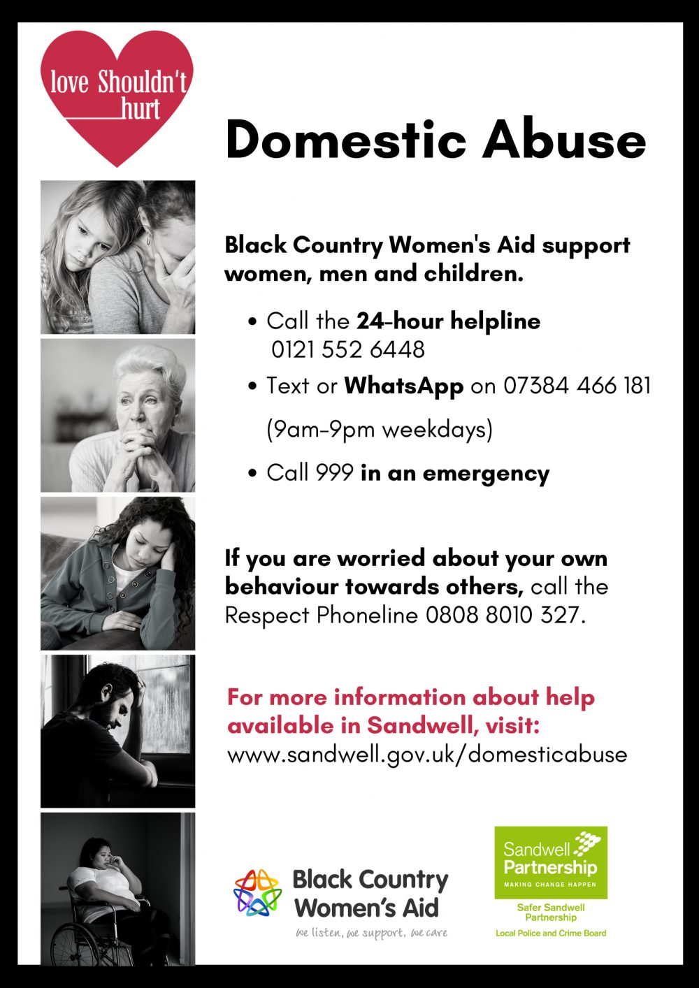 Black Country Women's Aid domestic abuse poster