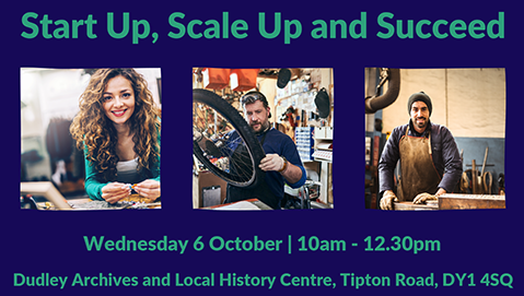 Poster for the Black Country Business Festival start up event